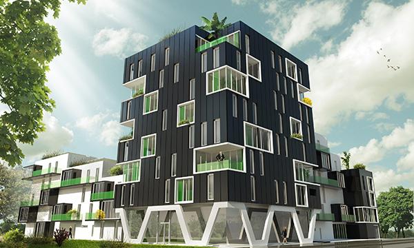 Luciline – Conception Réalisation de 63 logements et commerces à ROUEN
