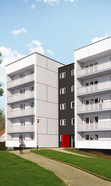 124 logements collectifs à GONFREVILLE L'ORCHER